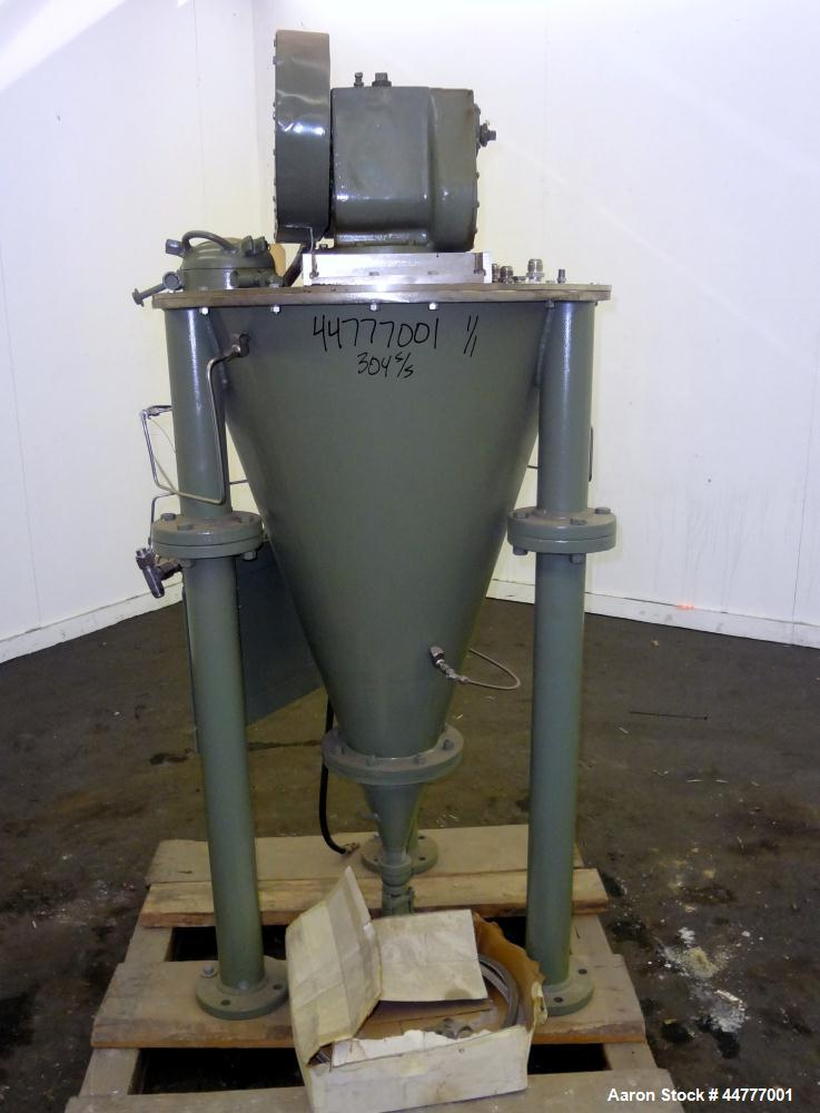 """Used- Stainless Steel J.H. Day """"Mini Mixer"""" Nauta Mixer, 1.75 Cubic Feet Working"""