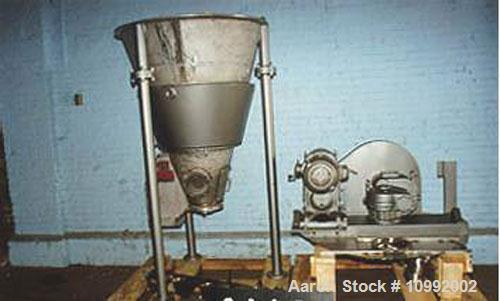 Unused-Used: J H Day jacketed Nauta mixer, 10.5 cubic feet, T304 stainless steel. 80 psi jacket and 5 hp Class II belt. Carb...
