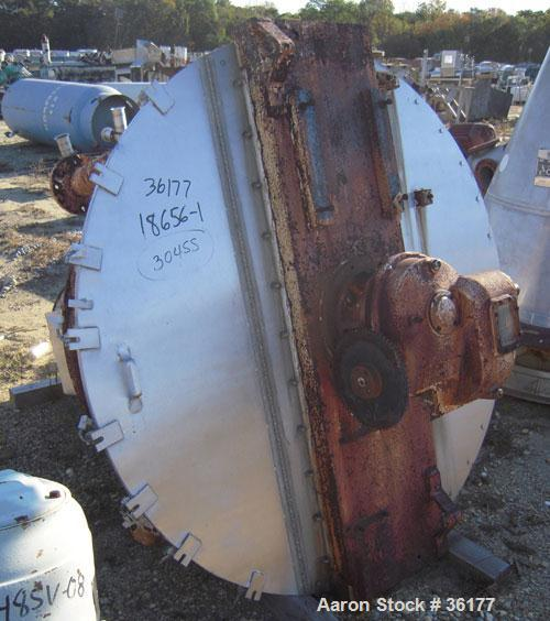 "Used- J.H. Day Nauta Mixer, 27 Cubic Feet, 304 Stainless Steel. 66"" diameter x 72"" high, polished internal, 1.5 hp, 5 hp 190..."