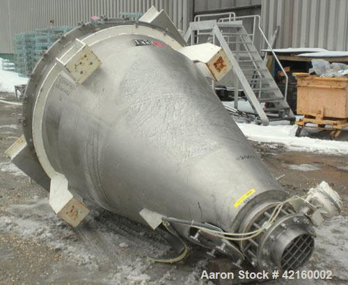 """Used- Littleford Mark II Nauta Mixer, Model FB-35, 316 stainless steel. 35 cubic feet working capacity. Approximate 60"""" diam..."""