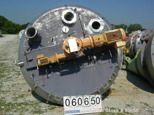 "USED: Nauta mixer, type mbx40r. Stainless steel construction. 7'7"" dia x 11'5"" st side (2381 mm dia x 3550 mm st side). 141 ..."