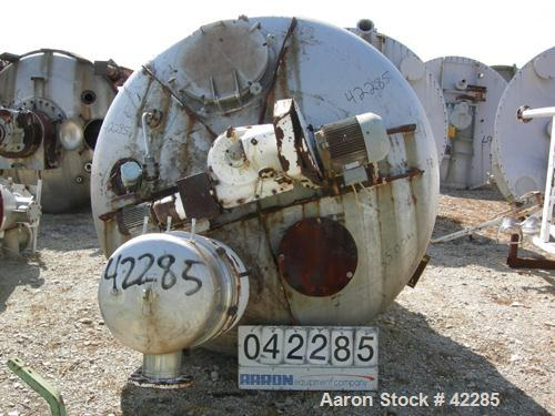 "Used- B.V. Nauta Mixer, 98 Cubic Feet, Type MBXU-35RWV, 316 Stainless Steel. Vacuum unit. 90"" Diameter x 132"" cone height. J..."