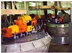 """USED: Nauta mixer, type mbx40r. Stainless steel construction. 7'7"""" dia x 11'5"""" st side (2381 mm dia x 3550 mm st side). 141 ..."""
