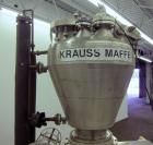 Used- Stainless Steel Krauss-Maffei Conical MT Mixer Dryer, 3.53 Cubic Feet (100