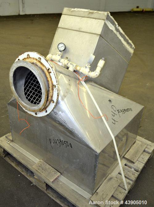 "Used- Vrieco Nauta Mixer, Approximately 6.9 Cubic Feet Working Capacity (195 Liter), 304 Stainless Steel.  Approximately 48""..."