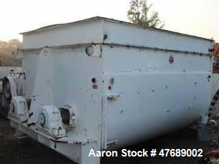 Used- Twin Shaft Paddle Mixer,approximately 240 cubic foot working capacity