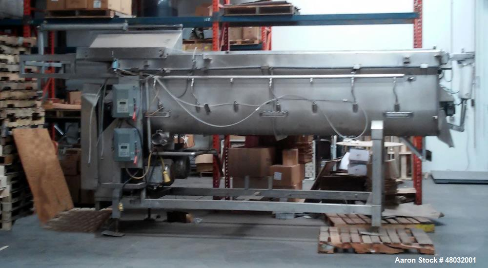 """Used- CSE Twin Shaft Paddle Mixer. 104 cubic foot working capacity. Heavy duty, stainless steel construction. 17' 8"""" x 5"""" x ..."""