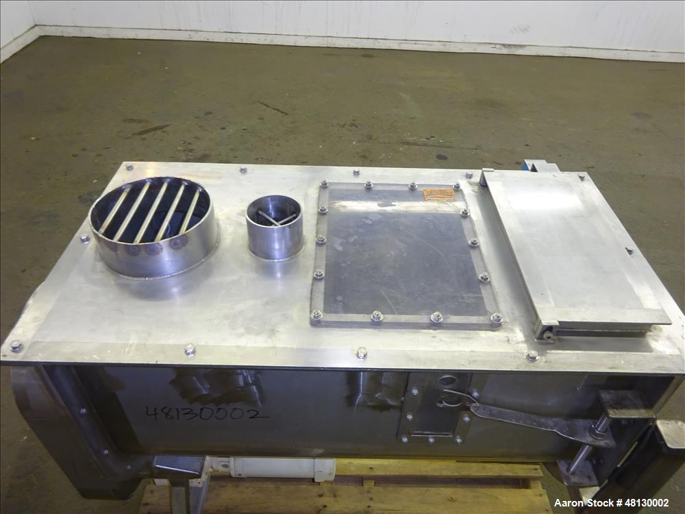 Used- Paddle Mixer, Approximate 7 Cubic Feet, 304 Stainless Steel