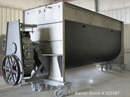 "USED: HPS-72216 Mixer, stainless steel, 72"" diameter x 18', 500 cubic feet mixing capacity. Integral dimpled jacket for stea..."