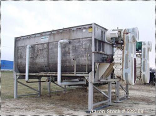 "USED: Stainless steel, 72"" diameter x 18', 500 cu ft mixing capacity.Integral dimpled jacket for steam use. 7"" diameter, 316..."