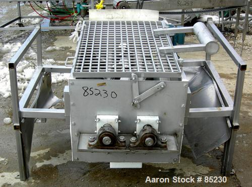 "USED: Twin Shaft Paddle Mixer, 15 cubic feet working capacity, 304 stainless steel. Non-jacketed trough 25"" wide x 48"" long ..."