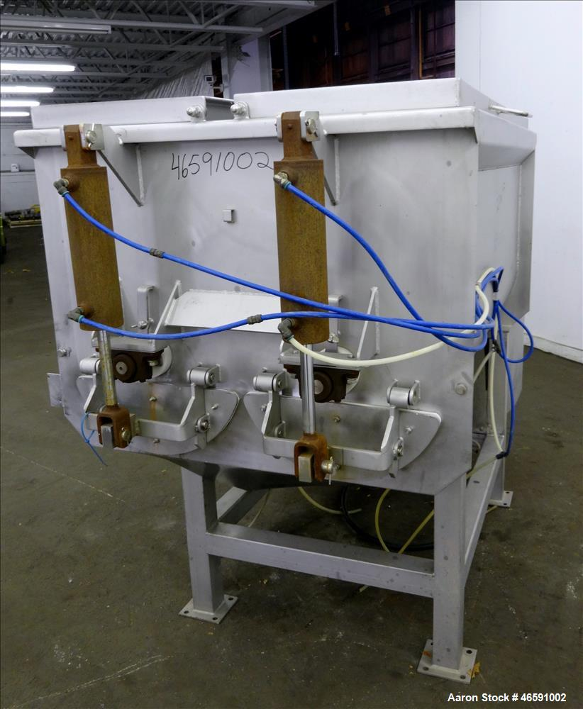 Used- American Food Equipment Company Twin Shaft Paddle Mixer, Model 510, Capacity 1,500 lbs (approximate 40 cubic feet), 30...