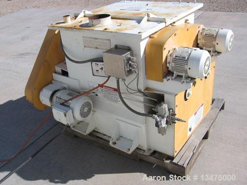 Used- Carbon Steel American Process Systems (Forberg type mixer) Twin Shaft Paddle Mixer, Model FZM-4S