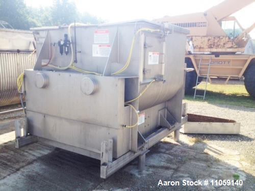 Used- American Process Systems Paddle Blender, Model FZM-53. (53 Cu.Ft./1500 Liter) Twin shaft fluidized zone mixer/paddle b...