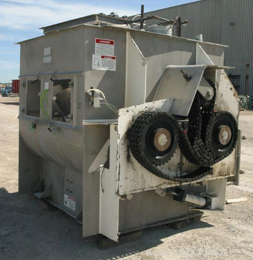 USED: American Process Forberg twin shaft fluidizer, model FZM-88.8. 88.3 cubic feet working capacity, 304 stainless steel. ...