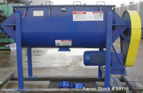 USED: American Process ribbon/paddle blender, model PRB-030, 30 cubic feet working capacity, carbon steel. Non-jacketed trou...
