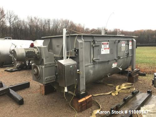 Used- 270 Cubic Foot Paddle Blender. Stainless Steel, built by American Process Systems Div of Eirich Machines Model #U270-5...