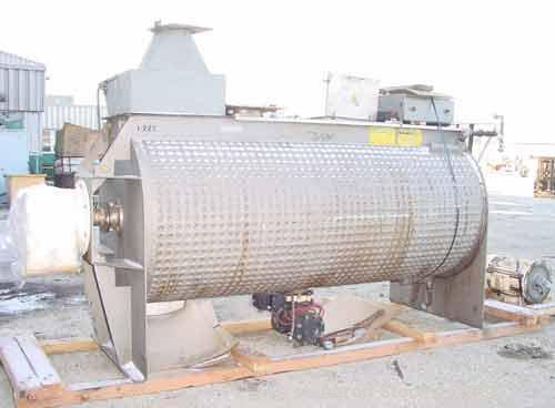 USED: American Process paddle mixer, model SCPB155, 155 cubic feet capacity, 304 stainless steel. Semi-cylindrical. Stainles...