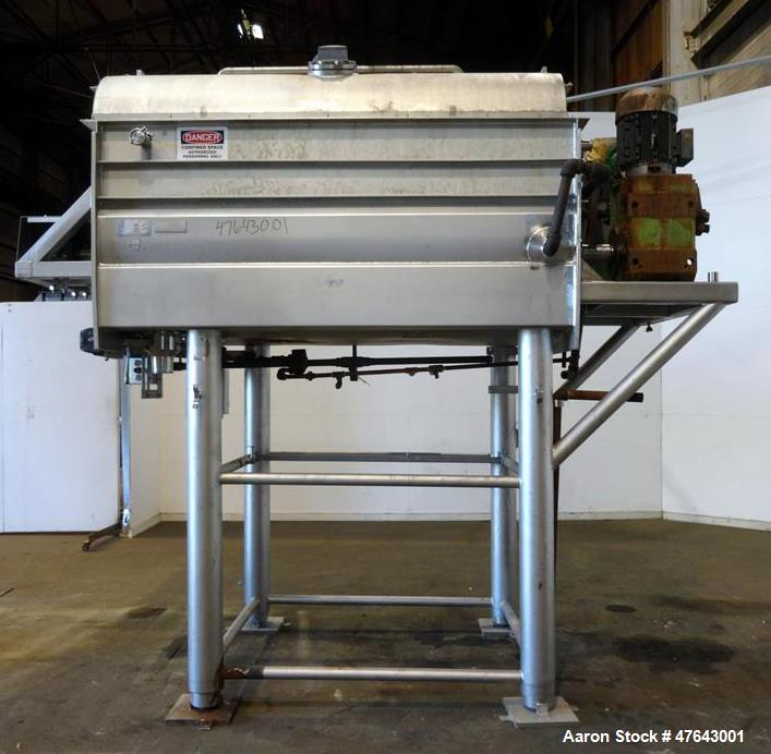Used- APV Dual Shaft Vacuum Paddle Blender, Model #80DP-V