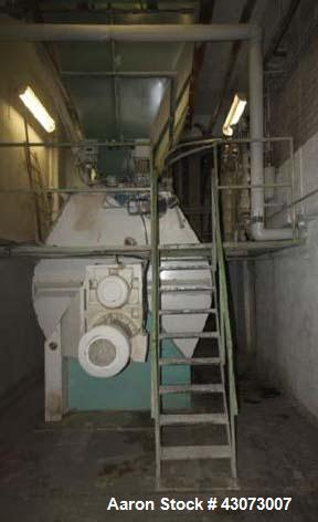 Used- Buehler Paddle Mixer, Model Speedmix DFML. Capacity 353.15 cubic feet. (10.000 liters). (6) paddles, 2 x 60 HP (2 x 45...