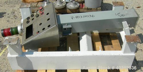 Used- Custom Metalcraft Dual Shaft Paddle Mixer, 15 cubic feet, model DRB-15, 304 stainless steel. Dimpled jacketed tapered ...