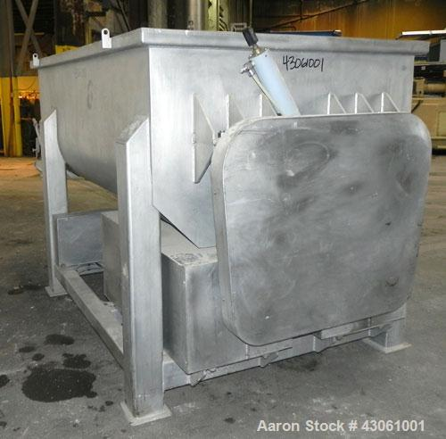 Used- Custom Metalcraft Dual Shaft Paddle Mixer, 90 Cubic Feet (4000 Pounds), Model DRB-4000LB, 304 Stainless Steel. Non-jac...