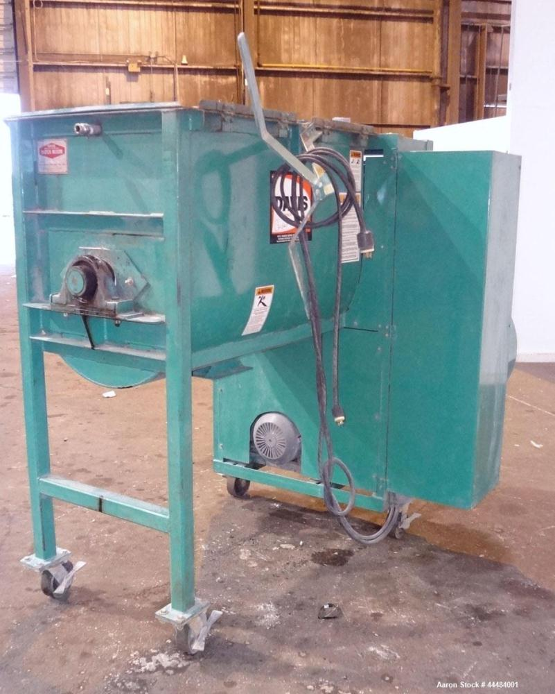 "Used- H.C. Davis Ultimate Duty Paddle Blender, 18 Cubic Feet Working Capacity, Carbon Steel. Non-Jacketed trough 31"" wide x ..."