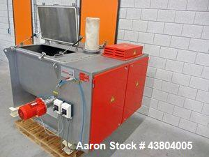 Used-Dinnisen PG-400 Paddle Mixer, 304 stainless steel.  Maximum capacity 14 cubic feet (400 liters).  Motor 7.3 hp (5.5 kW)...
