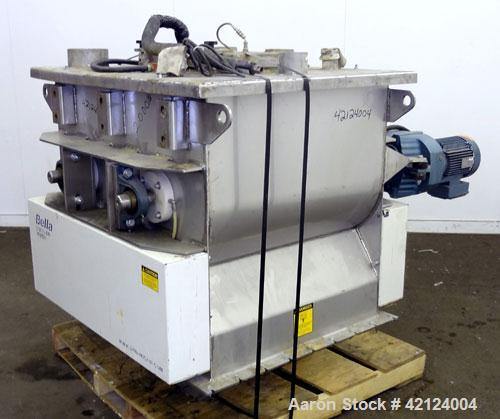 "Used- Dynamic Air Bella Twin Shaft Fluidized Zone Mixer, ""Forberg Type"" Model B-200-XN, 7.06 Cubic Feet Capacity, 316 Stainl..."