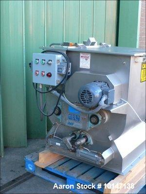 Used- Stainless Steel Forberg Double Shaft Paddle Mixer, Model F-120 S