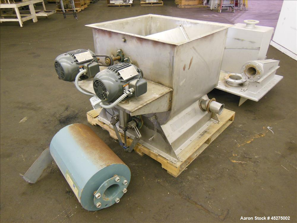 Used- Stainless Steel Halvor Forberg Twin Shaft Fluidizer, 4.2 Cubic Feet, Model F-120