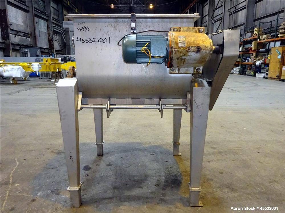 Used- Stainless Steel Forberg Twin Shaft Paddle Mixer.