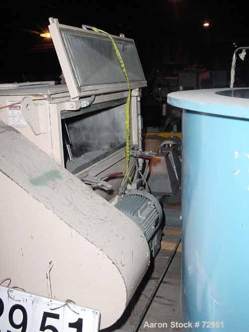 """USED: Forsberg fluidized zone mixer, model F500XE, stainless steel.17.7 cu ft batch capacity. Chamber 46""""L-R x 53-1/2""""F-B. T..."""