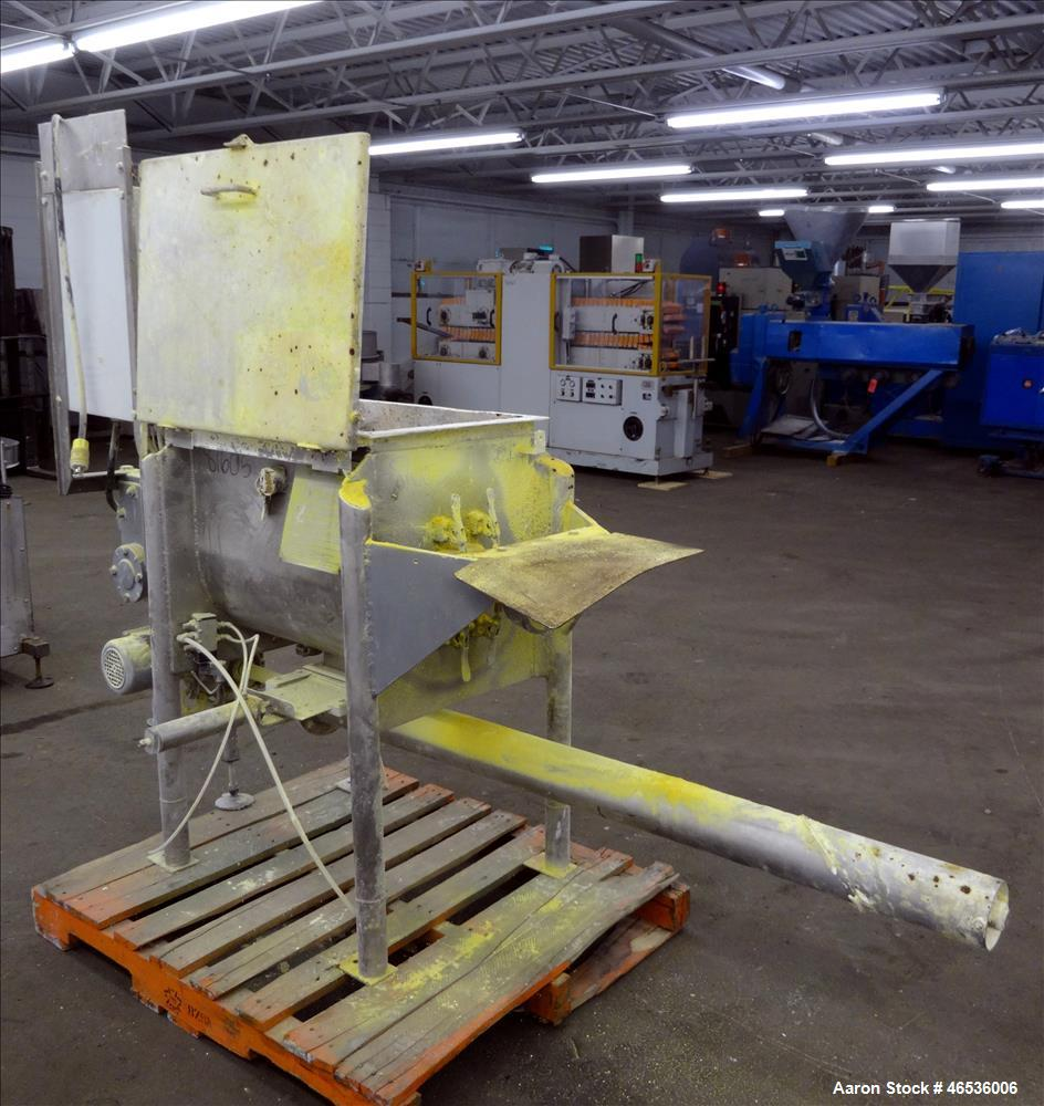 Used- Marion Paddle Mixer, Model FPS1824, 304 Stainless Steel. Working capacity 4 cubic feet, maximum 110 rpm. Non-jacketed ...