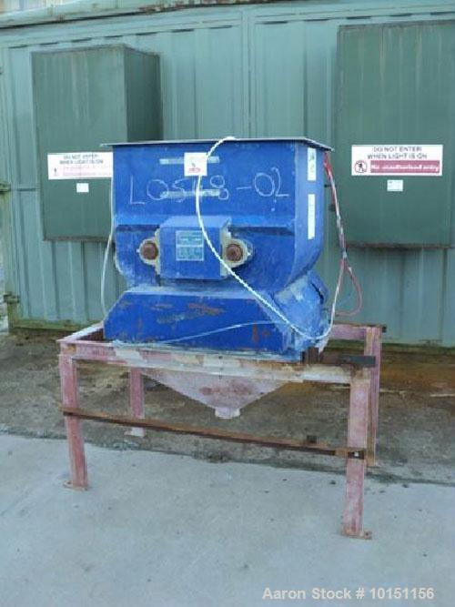 Used-Halvor Forberg Twin Shaft Fluidized Mixer, Model 7027, Carbon Steel.  Approximately 250 liter (66 gallon) working capac...