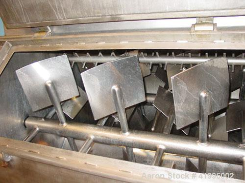 Used- Halvor Forberg Twin Shaft Fluidizer, Model 795, Stainless Steel. Chamber approximately 52'' long x 60'' wide. (2) 3-1/...