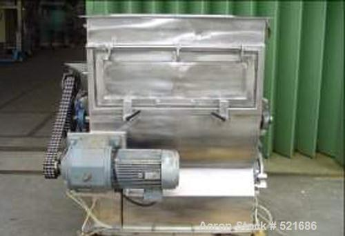 USED: Halvor Forberg paddle mixer, type F-500. Material of construction is stainless steel on product contact parts. Capacit...