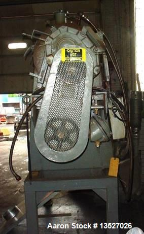 Used- Henschel Horizontal Mixer, 300 Liter, Model HVD300. Stainless steel contact parts. Driven by a 40 HP/XP 3/60/230/460V,...
