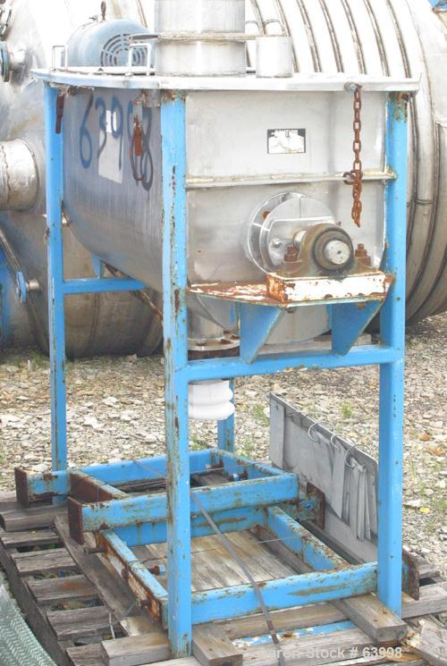 Used- Stainless Steel Jaygo Plow Mixer, 10 Cubic Feet, Model JRB10