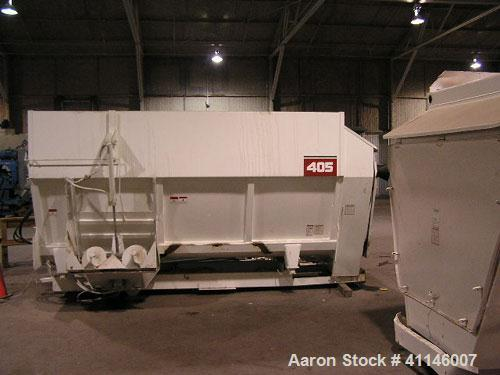 Used- Jet-Pro Continuous Flow Paddle Mixer, Approximately 100 cubic feet, carbon steel. Variable speed control.