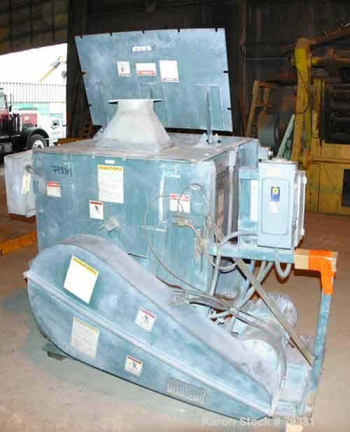 Used- Kelly Duplex Single Shaft Horizontal Paddle Mixer, Model 3604HM, 36 Cubic Foot Working Capacity, Carbon Steel. Non-jac...