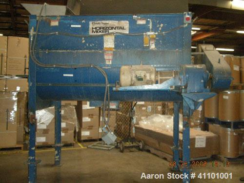 """Used-Kelly Duplex Horizontal Mixer. Approximately 100 cubic foot capacity, approximately 85 rpm. Dimensions: 96.25"""" long x 4..."""