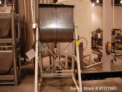 """Used- Leland Paddle Mixer, 26 Cubic Feet, Stainless Steel. Non-jacketed trough 39"""" wide x 36'' long x approximately 36'' dee..."""