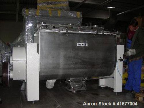Used-Manes MVA 1200 Paddle Dryer in stainless steel. 317 gallon (1200 liter) capacity. New 1979.