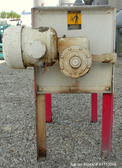 Used- Marion Paddle Mixer, Model 1001, 1.5 cubic foot working capacity. 304 stainless steel clad; carbon steel outside. Non-...