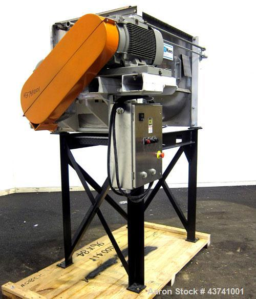 Used- Marion Paddle Mixer, Model 2030, 15 Cubic Foot Working Capacity (24 Total), 304 Stainless Steel.  Non-jacketed trough ...