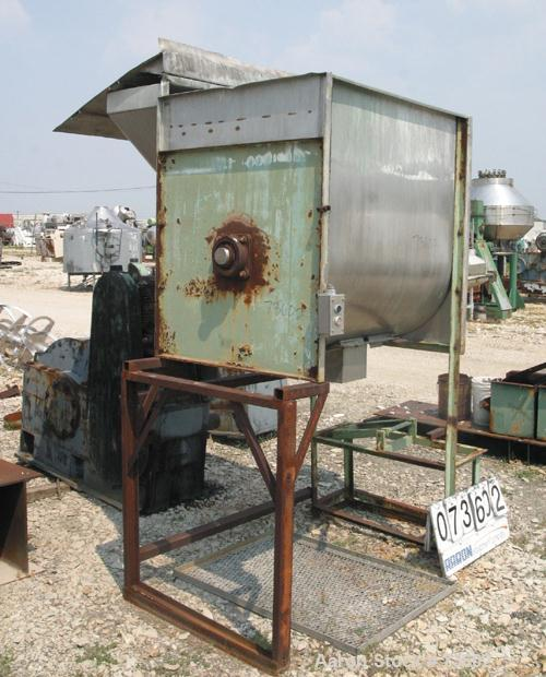 "Used- Marion Paddle Blender, 30 Cubic Feet, 304 Stainless Steel, Model 3020. Non-jacketed trough 36"" wide x 48"" long x 48"" d..."