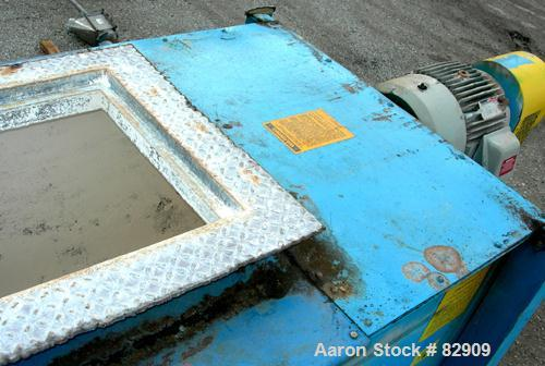 "USED- Marion Paddle Mixer, Model 3020, Carbon Steel. 30 cubic feet working capacity (41 total). Non-jacketed trough 36"" wide..."