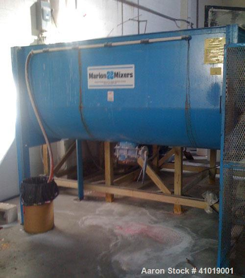 Used-Marion Mixer, Model 3060. 60 cubic foot carbon steel paddle mixer. 20 hp, 1800 rpm motor, hinged cover, dust collector.