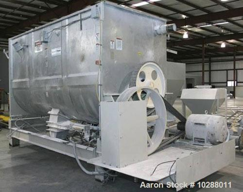 """Used-Marion 200 Cubic Foot Paddle Blender, Model 4140. Carbon steel construction. Trough measures 54"""" wide x 12' long, 8.5' ..."""